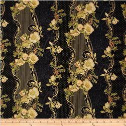 Madeline Wallpaper Stripe Metallic Black