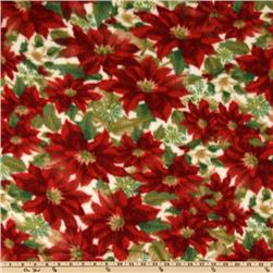 Arctic Fleece Poinsettia
