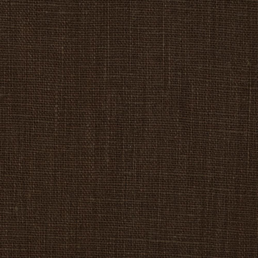 European 100 washed linen bayou brown discount designer for Fabric cloth material
