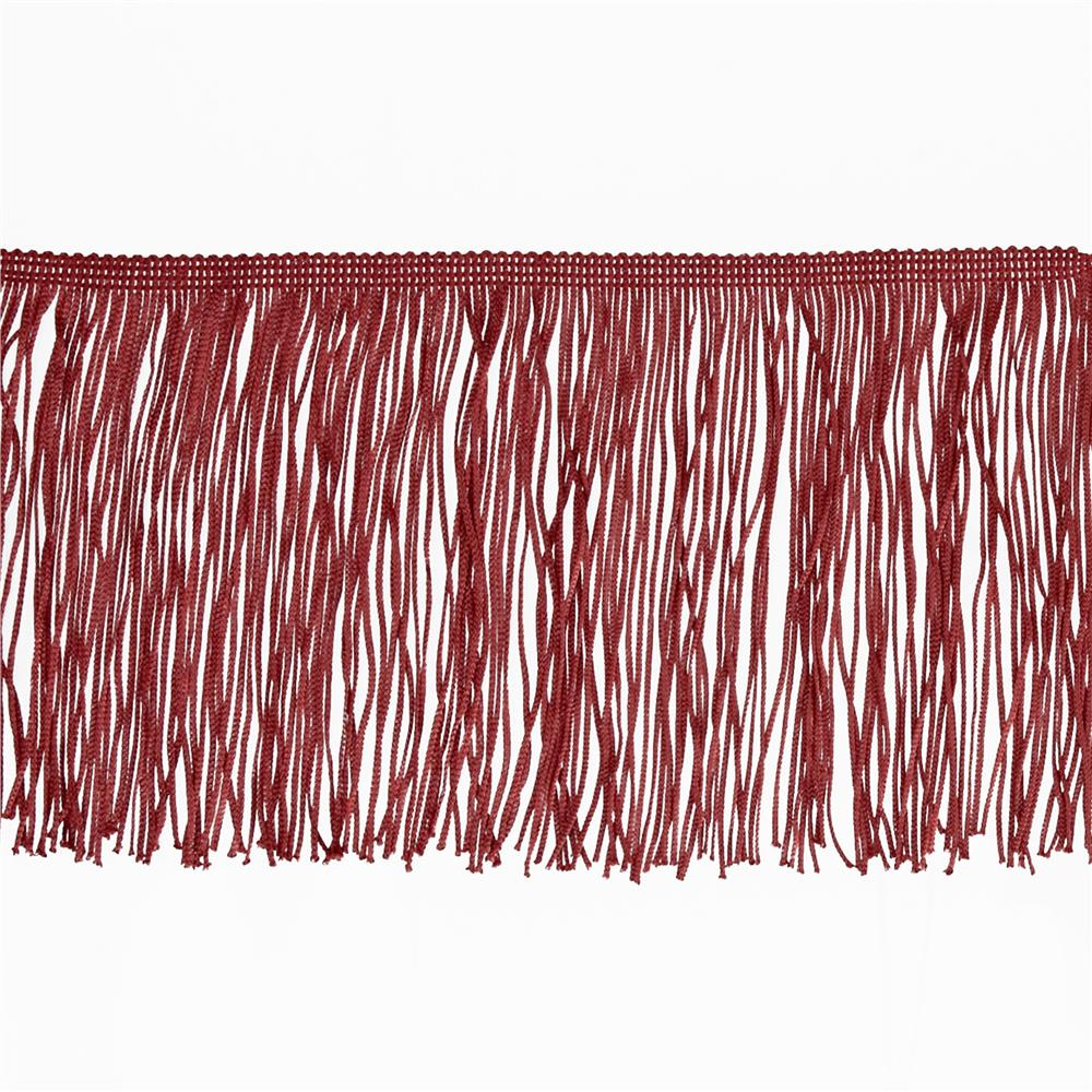 "6"" Chainette Fringe Trim Cranberry"