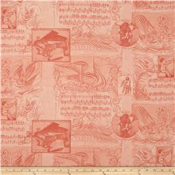Angel Band Picture Ephemera Salmon Fabric