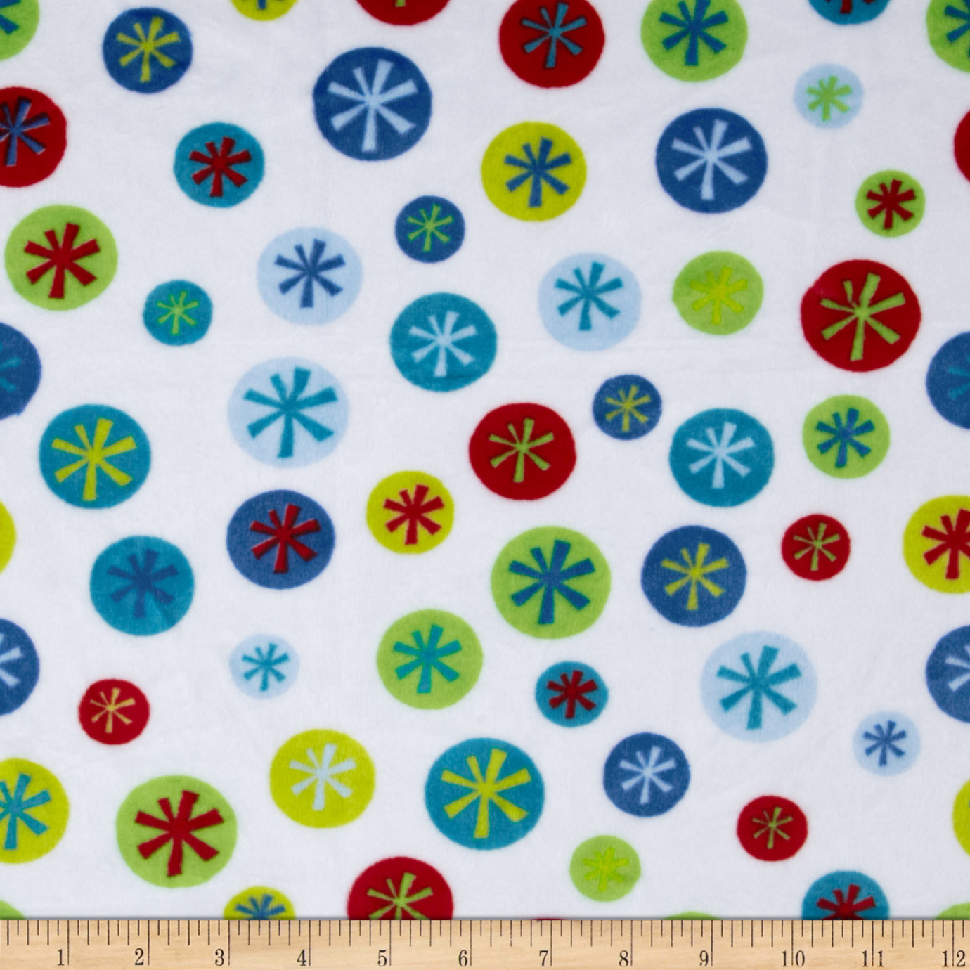 Minky Cuddle Snowflake Snow Fabric