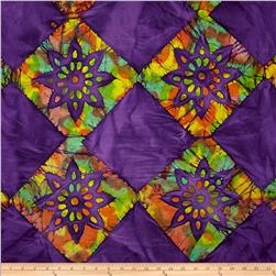 Indian Batik Tribal Cheater Block Purple