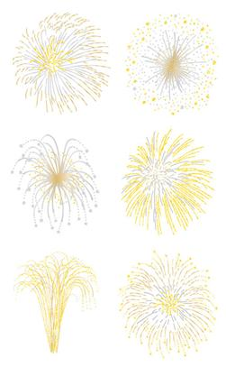 Mrs. Grossman's Stickers Fireworks Silver and Gold