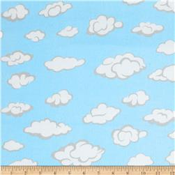 Comfy  Flannel Clouds Blue