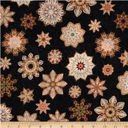 Queen Of The Night Floral Stars Black