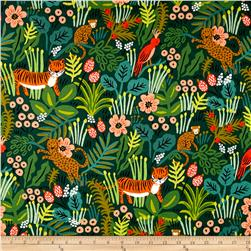 Cotton + Steel Rifle Paper Co. Menagerie Canvas Jungle Hunter