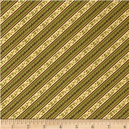Diagonal Vine Stripe Multi