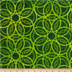 Artisan Batiks Geo Scapes Large Circles Green Fabric