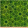Artisan Batiks Geo Scapes Large Circles Green