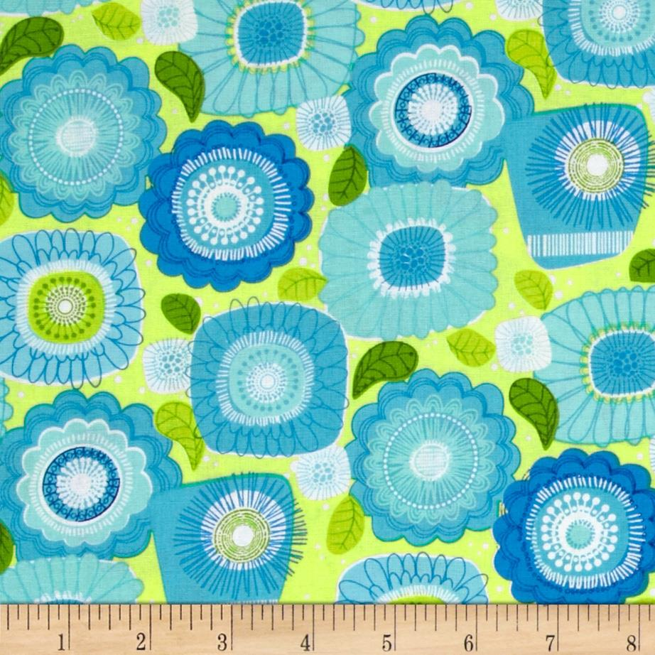 COMBINE Sweet Tweet Sunshine & Flowers Blue/Lime