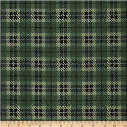 Moda Wool & Needle Flannel II Bold Plaid Sage