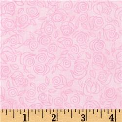 Timeless Treasures Tea Party Ditsy Rose Pink