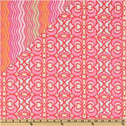 Amy Butler Double-Sided Quilted Midwest Modern II Red