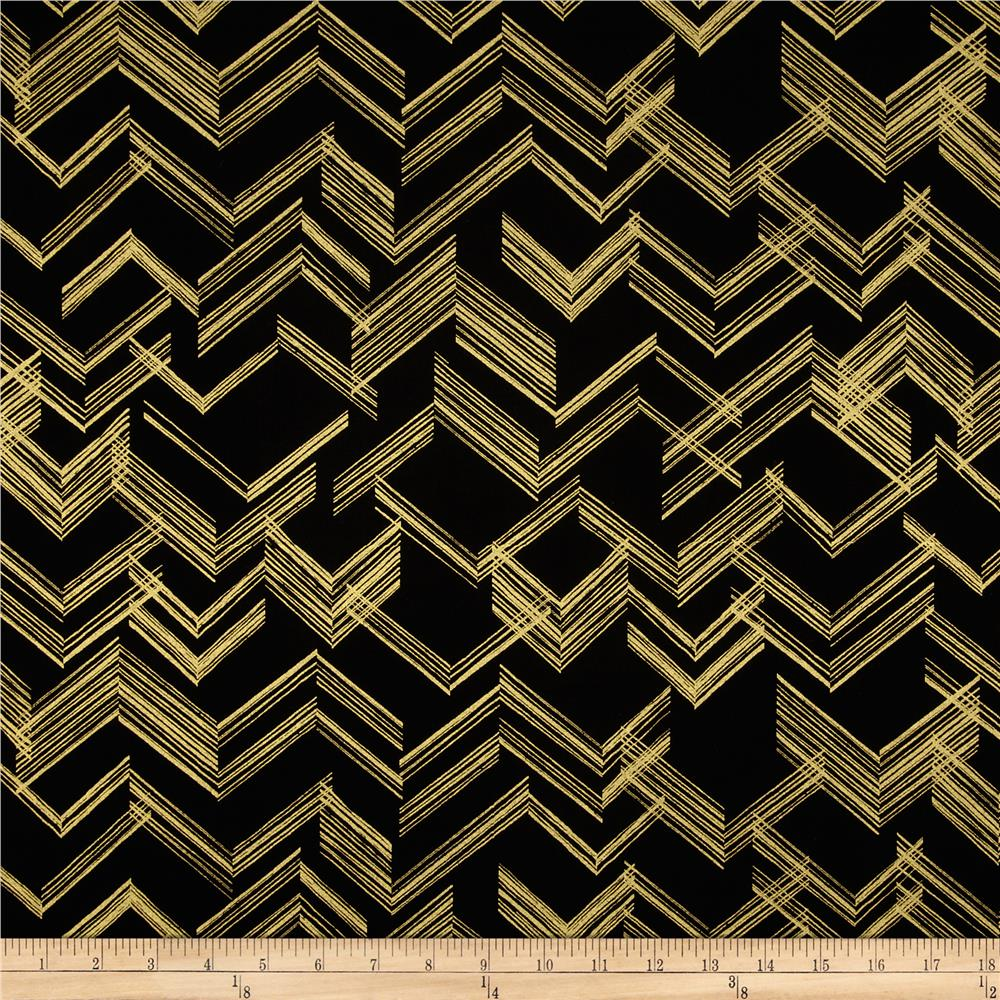 Gold standard metallic the right angle black gold for Apparel fabric