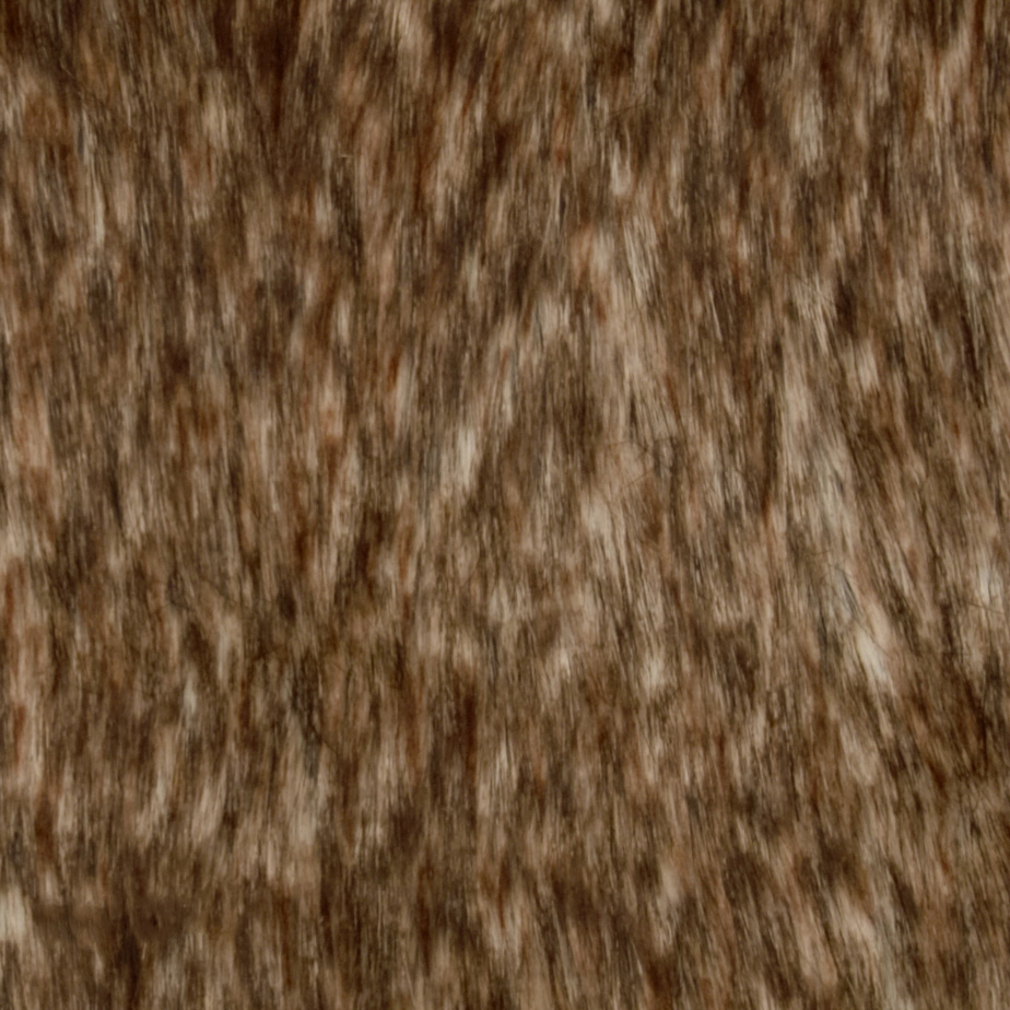 Faux Fur Silver Fox Brown/Black