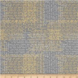 Moda Modern Backgrounds Luster Metallic Shakespeare Graphite