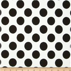 Paola Pique Large Dots Ivory/Black Fabric
