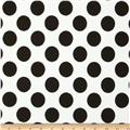 Paola Pique Knit Large Dots Ivory/Black
