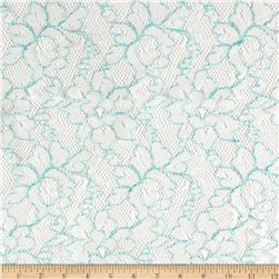 Novelty Lace White Mint