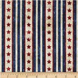 Stonehenge Land of the Free Stars & Stripes Navy/Red/Beige
