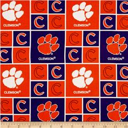 Collegiate Cotton Broadcloth Clemson University Purple