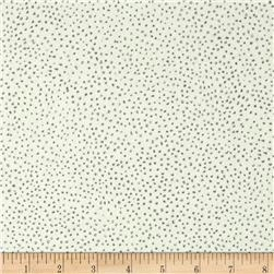 Kaufman Black & White Tiny Dots Snow