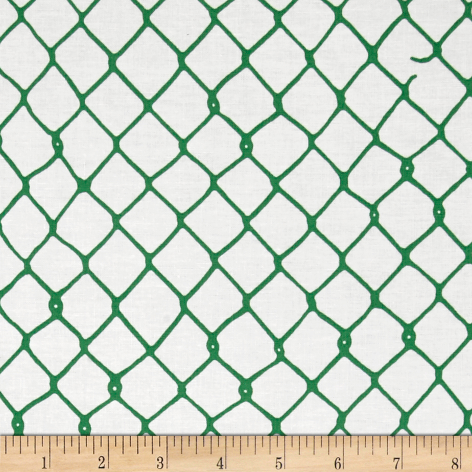 Image of Grafic Chain Link Fence Elm Fabric