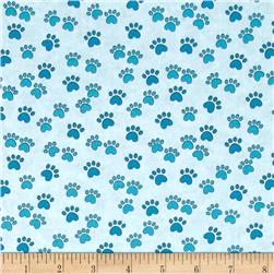 Miss Kitty's Colors Paw Print Blue