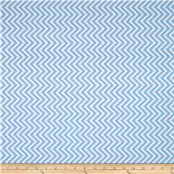 Moda Bump To Baby Chevron Blue