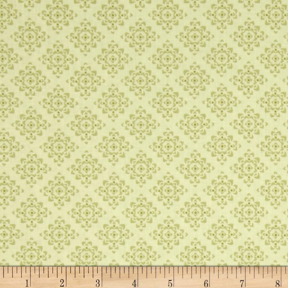 Laugh Love Quilt Tonal Green