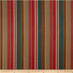 Laura & Kiran Southwest Stripes Gypsy Red/Turq/Khaki
