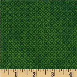 "108"" Wide Essentials Quilt Backing Criss Cross Green"