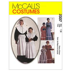 McCall's Misses' and Girls' Costumes Pattern M2337 Size LRG