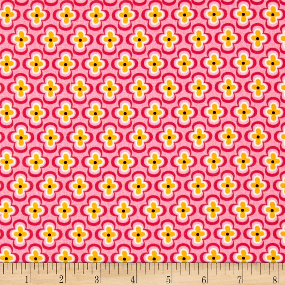My Lil Lady Quatra Foil Floral Pink/Yellow