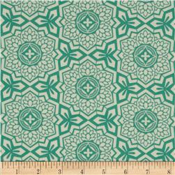 Joel Dewberry Botanique Mosaic Bloom Teal Fabric