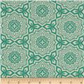 Joel Dewberry Botanique Mosaic Bloom Teal
