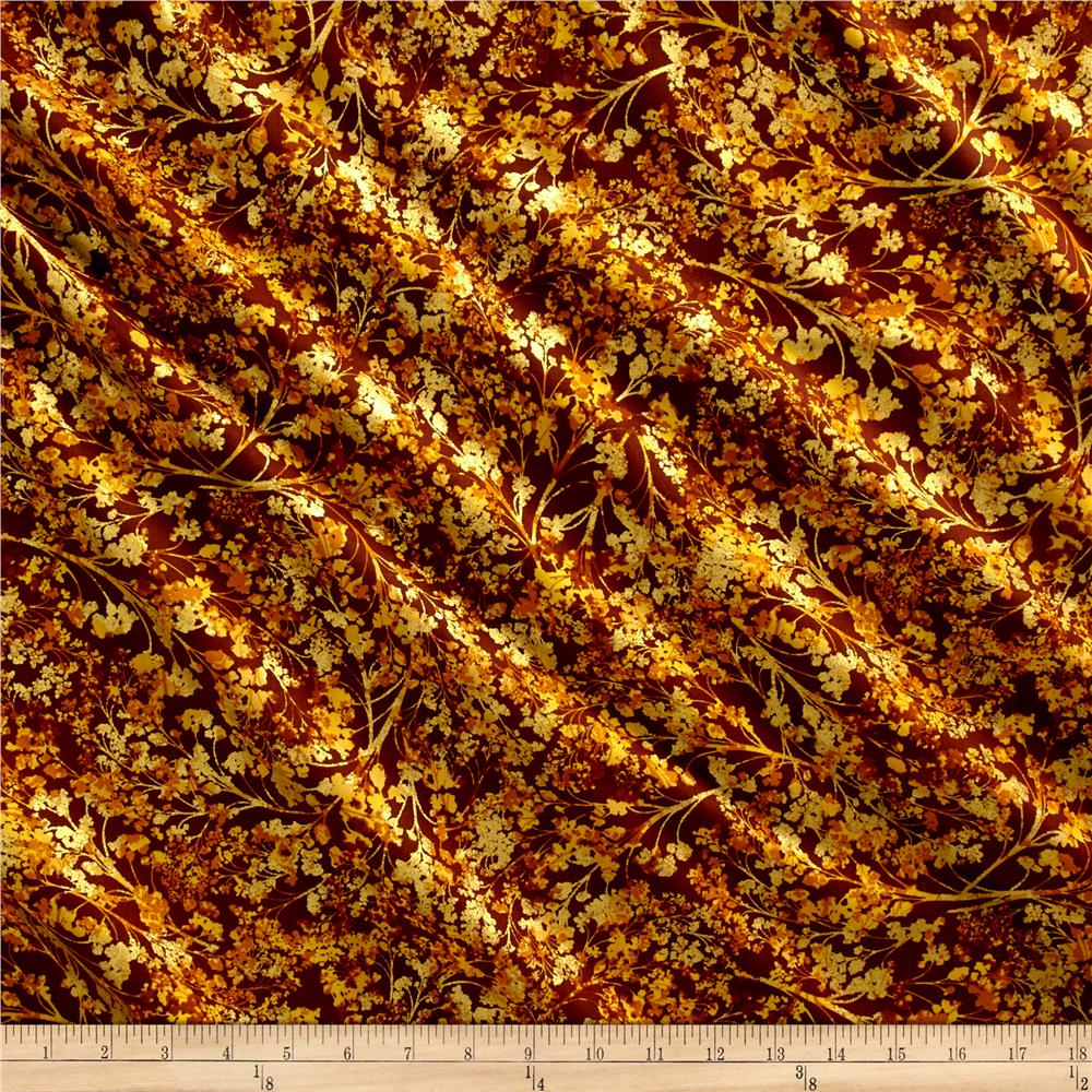 Kanvas Autumn Splendor Metallic Autumn Willow Brown/Gold