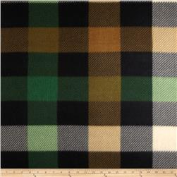 Fleece Print Squares Hunter