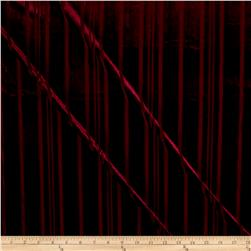 Telio Panne Stretch Velvet Stripe Burgundy
