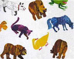 Brown Bear Brown Bear Painted Animals Multi Fabric