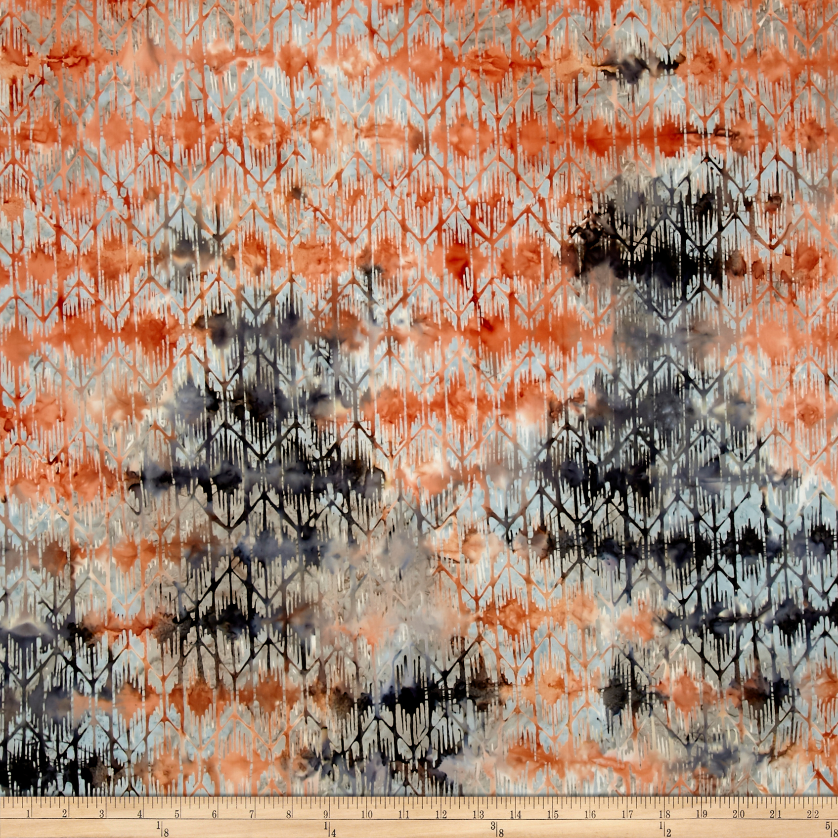 Timeless Treasures Tonga Batik Copper Weeping Willow Carbon Fabric by Timeless Treasures in USA