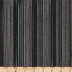 Kaufman Shimmer Yarn Dye Metallic Stripe Charcoal