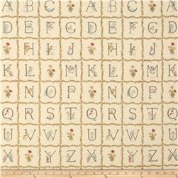 Lecien Kate Greenaway Alphabet Blocks Peach