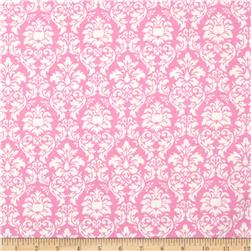 Michael Miller Baby Flannel Petite Dandy Damask Pink