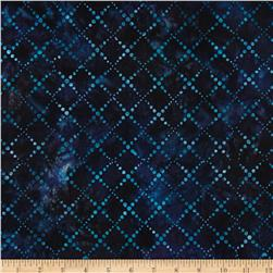 Artisan Batiks Color Source 4 Diamond Grid Indigo