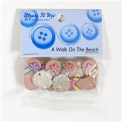 Dress It Up Embellishment Buttons A Walk On The Beach