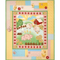 Farm Friends Baby 36 In. Panel Multi