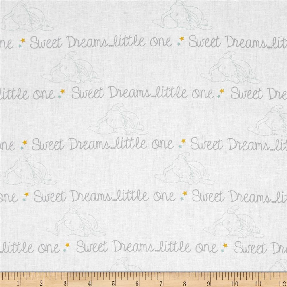 Disney Dumbo Sweet Dreams Script Grey
