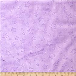 Minky Embossed Star Cuddle Lilac